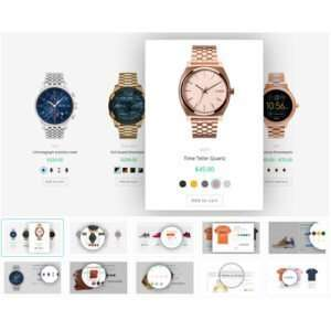 WooCommerce Variation Swatches es un complemento simple pero hace un trabajo maravilloso.Convierte el menú desplegable de selección de atributos de producto en hermosas muestras.