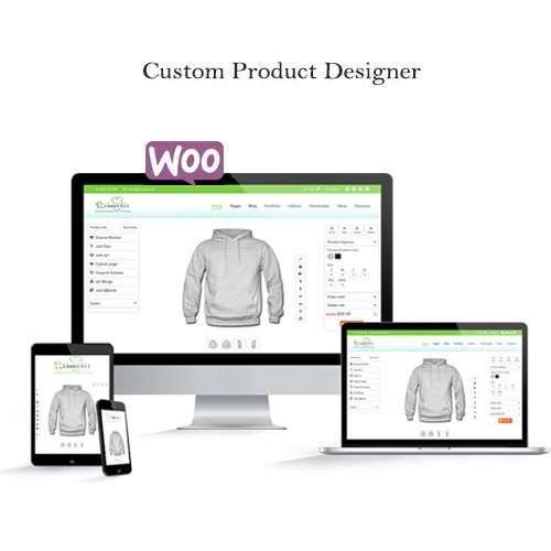 WooCommerce Custom Product Designer - Diseñador de productos personalizados, solución comercial completa para vender productos de impresión personalizados